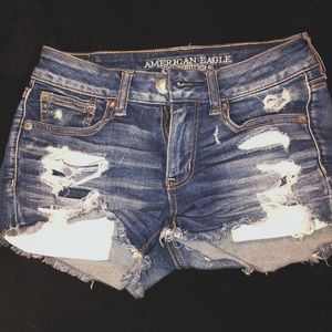 high wasted ripped jean shorts